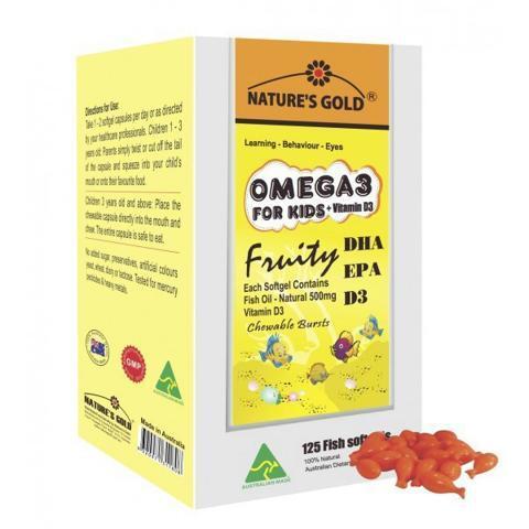 Dầu cá trẻ em Nature's gold Omega 3