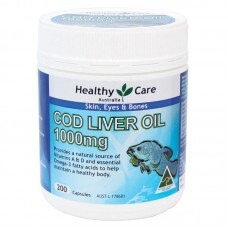 Dầu cá tuyết Healthy Care Cod Liver Oil 1000 mg, 200 viên