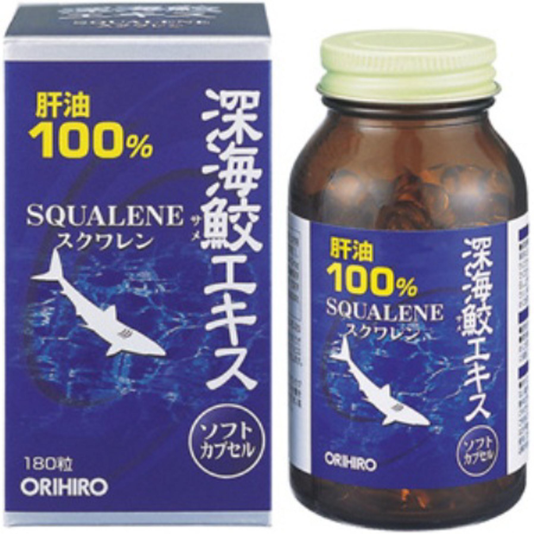 Dầu gan cá mập 100% Squalene Orihiro loại 360 viên Nhật Bản