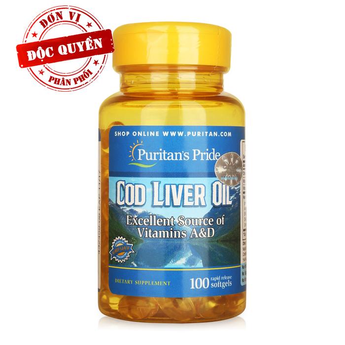 Dầu gan cá tuyết Puritan's Pride Cod Liver Oil 100 viên