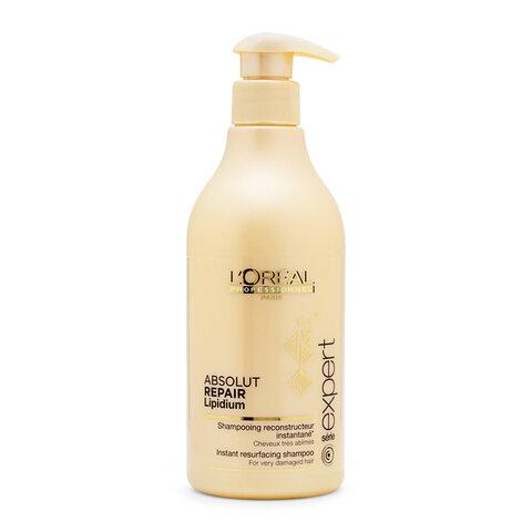Dầu gội chăm sóc tóc hư tổn Loreal Absolut Repair Lipidium 500ml