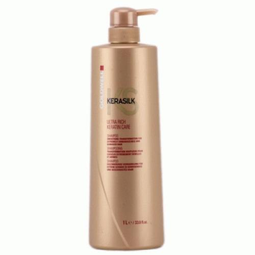 Dầu gội siêu dưỡng tóc Kerasilk KS Goldwell Ultra Rich Keratin Care
