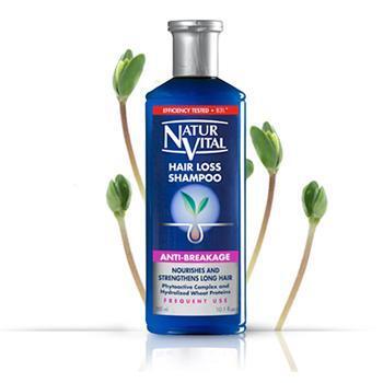 Dầu gội trị rụng tóc dành cho tóc và da đầu khô Natur vital – 300 ml