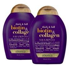 Dầu gội và dầu xả OGX Thick and Full Biotin and Collagen Shampoo 385ml