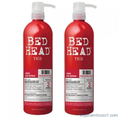 Dầu gội xả tái sinh Bed Head Tigi Urban Antidotes Resurrection Shampoo - 750ml