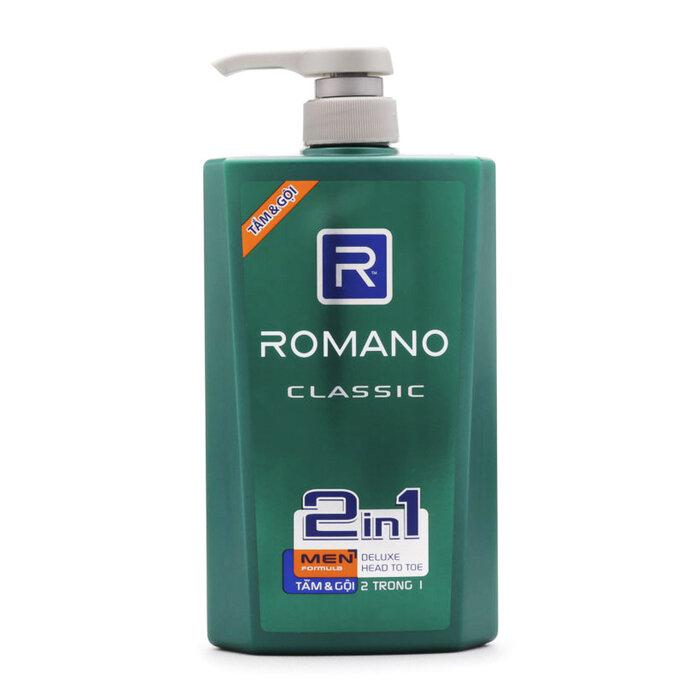Dầu tắm gội Romano Classic 650g
