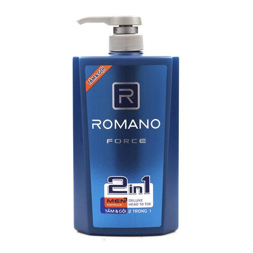 Dầu tắm gội Romano Force 650g