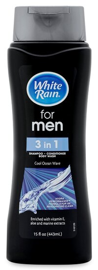 Dầu tắm, gội, xả White Rain For Men 3 In 1 Cool Ocean Wave 443ml
