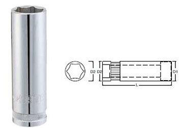 Đầu tuýp dài 6 góc Sata 13-413 (13413), 22mm 1/2″