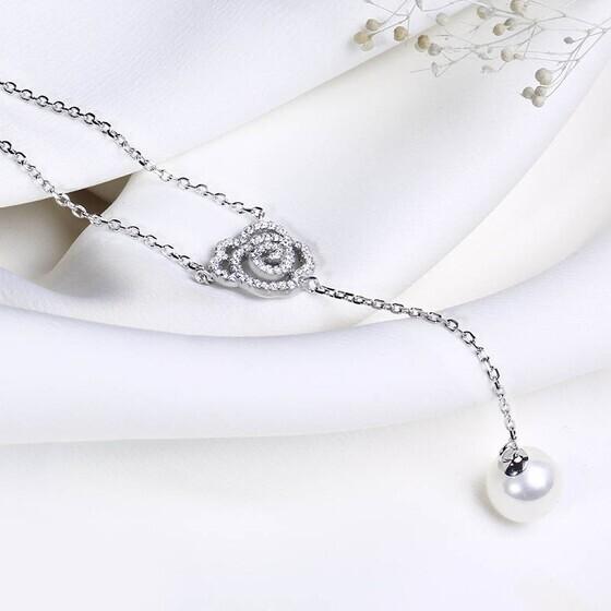 Dây chuyền bạc Princess Pearl