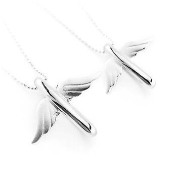 Dây chuyền cặp bạc đôi cánh tình yêu-DCC025