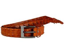 Dây nịt nam da cá sấu nguyên con màu vàng HH4221- Huy Hoàng
