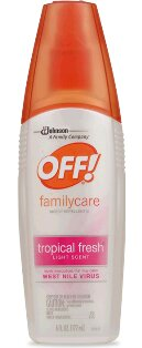 DD233 - Thuốc chống muỗi Off! Familycare Spritz Insect Repellant-Tropical Fresh Light Scent (177 ml)