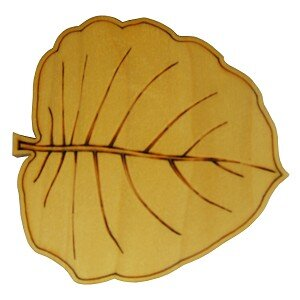 Đế lót ly gỗ chiếc lá NVH09 (Bộ 4 Cái)