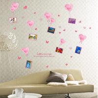 Decal dán tường - Bóng bay hồng