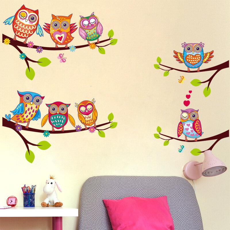 Decal dán tường cành cây cú mèo EB221