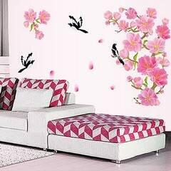 Decal dán tường cành đào hồng 1 BinBin PK155 130 x 78 cm