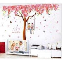 Decal dán tường cây đào tình yêu BINBIN PK303