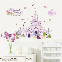 Decal dán tường công chúa và lâu đài - EB31