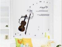 Decal dán tường đàn violon 1 PK170
