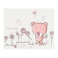 Decal dán tường gấu hồng BinBin EB101