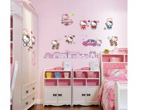 Decal dán tường Hello Kitty 3 - EB59