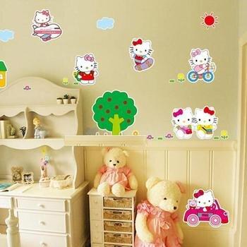 Decal dán tường Hello Kitty 4 - EB66