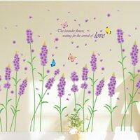 Decal dán tường Hoa lavender tím-PK103