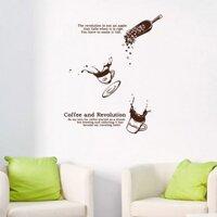 Decal Dán Tường NineWall Coffee DC014