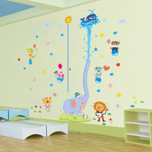 Decal dán tường voi phun nước đáng yêu cho bé SK2004