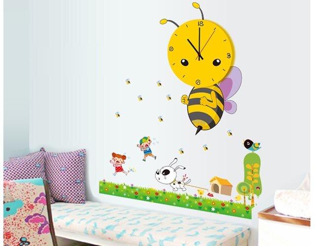 Decal kèm đồng hồ hình ong vàng - DH09