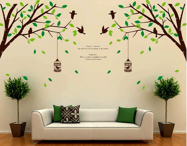 Decal trang trí dán tường 2 cành cây to