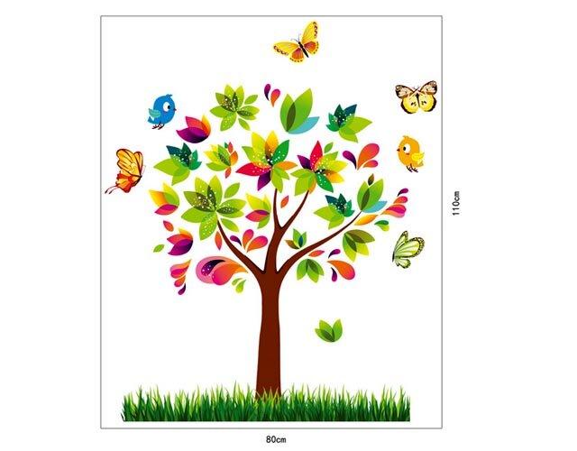 Decal trang trí dán tường cây mùa xuân 3D