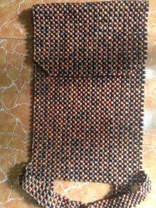 Đệm ghế ô tô gỗ Trắc (hạt nhỏ 1.2cm)