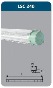Đèn chống nổ Duhal 2x36w LSC240