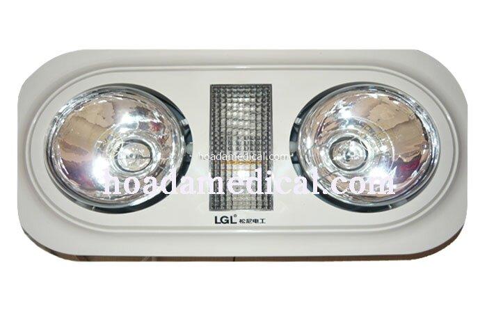 Đèn hồng ngoại âm trần cụm 2 đèn