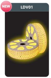 Đèn led dây cao áp ánh sáng vàng Duhal LDV01