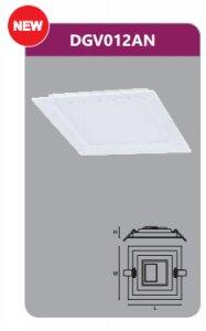 Đèn led gắn nổi vuông Duhal DGV012AN 12W