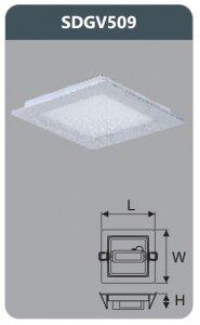 Đèn led panel âm trần vuông Duhal SDGV509