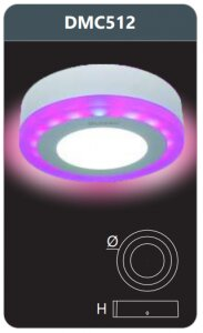 Đèn led panel đổi màu gắn nổi Duhal 12w DMC512