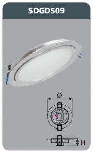 Đèn led panel Duhal SDGD509