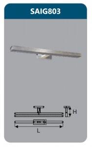 Đèn led soi gương Duhal 9w SAIG803