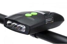 Đèn pin trên xe đạp White LED horn Flash