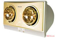Đèn sưởi nhà tắm 2 bóng Milor ML6002 (ML 6002)