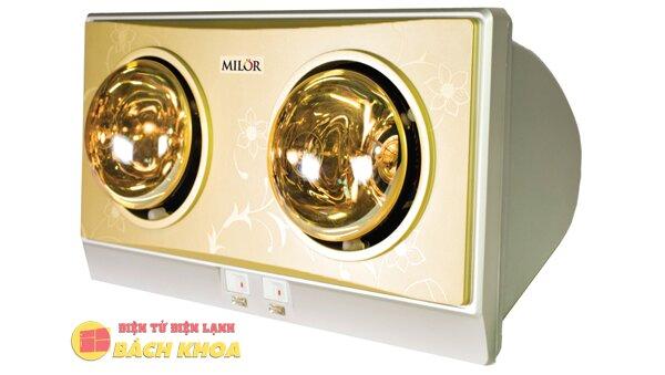 Đèn sưởi nhà tắm 2 bóng Milor ML 6002V