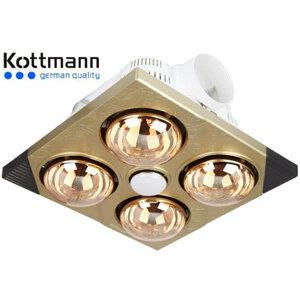 Đèn sưởi nhà tắm âm trần Kottmann K4DT (bóng vàng)