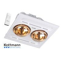 Đèn sưởi nhà tắm âm trần Kottmann K9-R -  2 bóng
