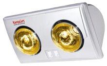 Đèn sưởi nhà tắm Braun BU02G - 2 bóng vàng