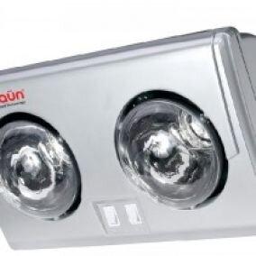 Đèn sưởi nhà tắm Braun BU02PG - 2 bóng vàng, có quạt