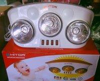 Đèn sưởi nhà tắm Hitop - 3 bóng hồng ngoại
